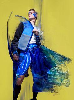 颜料与衣料的碰撞
