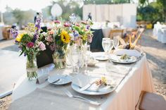 Colorful California Backyard Wedding: Stefanie + Leigh