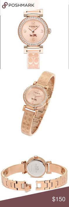 COACH watches ladies COACH coach watches ladies 14502565 quartz rose gold with pink leather strap Coach Accessories Watches