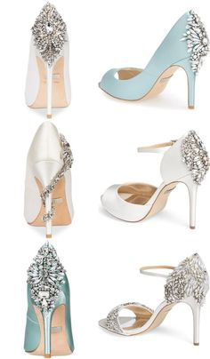1e1bc73a3766 Crystal Back Wedding Shoes  The Perfect Bridal Shoe. Jeweled and embellished  ...