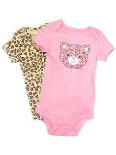 2 Pack of Short Sleeve Onesie Bodysuits Leopard « Clothing Impulse