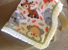 Animal+Nursery+Blanket+Crocheted+Blanket+Fleece+Blanket