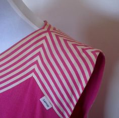 VINTAGE authentic LANVIN paris designer vintage 60s/70s hot pink chevron stripe shift dress (equiv sz us 8, uk au nz 12, eu 40) by shopblackheart on Etsy
