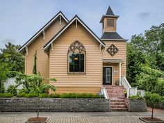Front of our 1911 home, which started life as a Seventh Day Adventist Church.