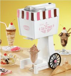 Nostalgia Electrics Carnival Old Fashioned Ice Cream Maker in the Other Cookware category was sold for on 26 Jan at by berniceleigh in Pretoria / Tshwane Kids Ice Cream Maker, Electric Ice Cream Maker, Cool Kitchen Gadgets, Cool Kitchens, Old Fashioned Ice Cream, Cute Room Decor, Cooking Gadgets, Cool Inventions, Toys For Girls