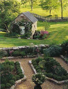 what a lovely wall and garden