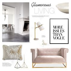"""""""Glamorous Living"""" by little-bumblebee ❤ liked on Polyvore featuring interior, interiors, interior design, home, home decor, interior decorating, Jonathan Adler, Arteriors, Pier 1 Imports and Alessi"""