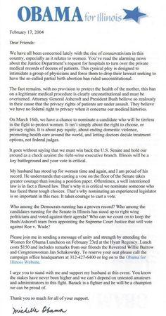 "2004 Letter Shows Michelle Obama Defending The Killing Of Half-Born Children As A ""Legitimate Medical Procedure""…   Weasel Zippers"