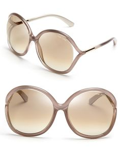 Tom Ford Rhi Oversized rose colored Sunglasses (at Bloomingdales)