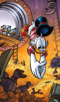 Disney Art, Walt Disney, Disney Duck, Money Is Not Everything, Jacob Marley, Monkey Wallpaper, Scrooge Mcduck, Fantasy Movies, Album