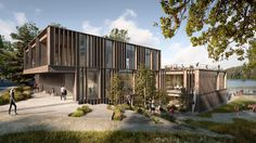 Danish studio AART has been selected to design Denmark's national rowing stadium, with its designs for a tiered and timber-clad boathouse at Bagsværd Lake on the outskirts of Copenhagen.