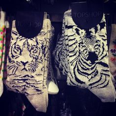Even wild things can have a sparkly side! #sparkle #topshop #topshopoxfordcircus #zebra #tiger #socks
