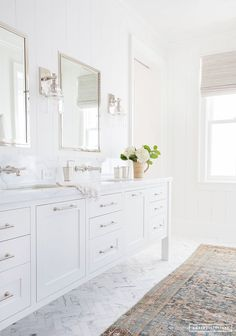 Elegant White Bathroom Vanity Ideas 55 Most Beautiful Inspirations 33 – GooDSGN white bathroom design with white vanity and white marble quartz counter and bathroom mirror with bathroom sconce and tile floor and subway tile shower Bathroom Renos, Bathroom Flooring, Bathroom Renovations, Bathroom Interior, Bathroom Cladding, Design Bathroom, Washroom, Bathroom Furniture, White Master Bathroom