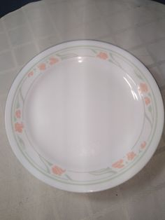 Corelle Plates, Tableware, Correlle Dishes, Bread N Butter, Plate Sets, Dinner Plates, Garland, Peach, Etsy Shop