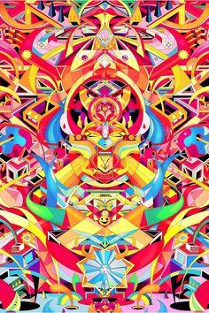 The Geometric Illustrations of Yo Az   Create