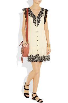 ALICE BY TEMPERLEY  Vanita lace and silk-chiffon dress