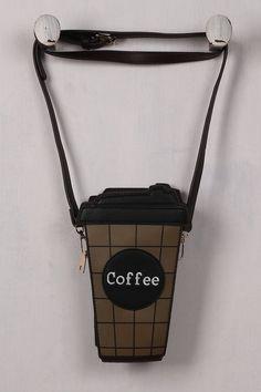 Addicted To Coffee Cross Body Mini Bag