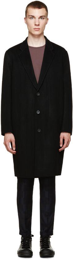 Acne Studios Black Wool Charles Coat