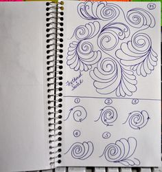 Feather Swirls from LuAnn's sketchbook, May Your Bobbin Always Be Full
