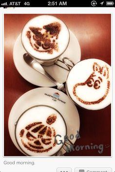 cute moomin coffees : Snuffkin, Moomin, and Mymble--love 'em! Moomin Cafe, Moomin House, Coffee Latte, I Love Coffee, Coffee Time, Tove Jansson, Cafe House, Latte Art, Little My
