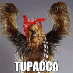 Items similar to Tupacca funny chewbacca star wars spoof music gangster Men's T SHIRT on Etsy Star Wars Puns, Star Wars Humor, Star Trek, Chewbacca, Word Pictures, Funny Pictures, Funny Pics, Haha Funny, Lol