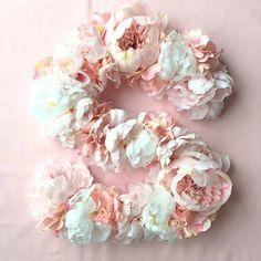 "16"" Floral Number / Floral Letter / Nursery Decor / Party Decor / Wedding Decor"