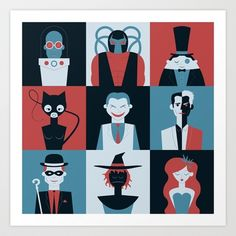 The Usual Suspects Art Print by Brandon Autry - $18.00