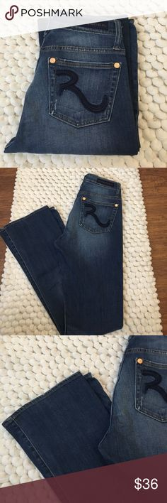 Rock and Republic Kasandra jeans size 6 Excellent preowned condition. Rock and Republic Kassandra fit jeans.Size 6. 98% cotton 2% spandex for stretch. Light distressing and whiskering. Very flattering fit. Rock & Republic Jeans Boot Cut