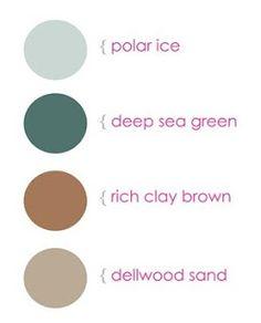 Color palette - Teal & Rusk