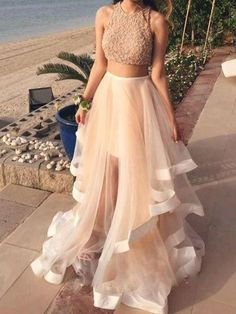 Top New Prom Dress White Two Pieces Sequin Tulle Long Prom Dress,Evening Dress Elegant Evening Dresses Sexy Party Gowns · meetdresse · Online Store Powered by Storenvy Cheap Formal Dresses, Pretty Prom Dresses, Prom Dresses Two Piece, Prom Dresses 2016, Prom Dresses With Sleeves, Two Piece Dress, Ball Dresses, Elegant Dresses, Evening Dresses
