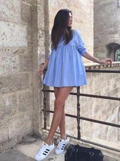 ZARA BLUE SKY POPLIN DRESS JUMPSUIT SIZE L LARGE BLOGGERS SOLD OUT #ZARA #JumpsitDress #Casual