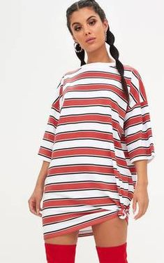 Emerald Green Stripe Oversized T Shirt Dress Pretty Little Thing Sale Visit New Cheap Outlet Outlet Lowest Price Free Shipping 2018 New f1l5iz