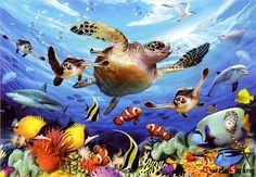 "Jigsaw Puzzles 1000 Pieces ""Sea turtle's travel"""