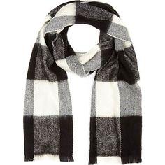 Buffalo plaid scarf