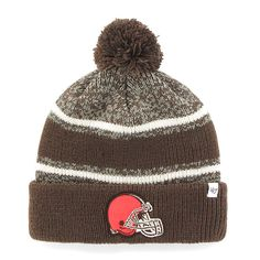 Cleveland Browns '47 Brand Fairfax Cuffed Knit Hat with Pom - Brown - $19.19
