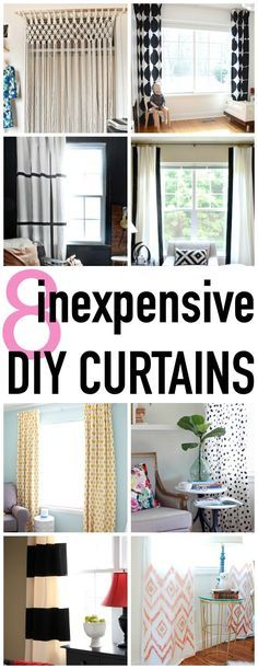 8 super stylish and easy DIY Curtain tutorials - Click for more ideas - http://www.classyclutter.net