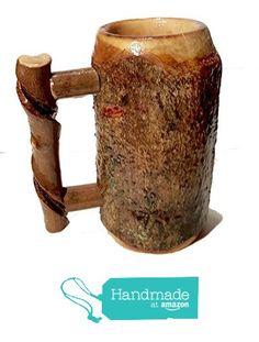 "Lathe Turned ""Bark-On"" Wooden Tankard Maple from Kentucky Roots Wood https://www.amazon.com/dp/B018ZTBFRO/ref=hnd_sw_r_pi_dp_2yM1ybD69SX5S #handmadeatamazon"