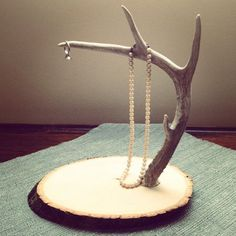 Deer Antler Jewelry Stand & Display by leonasheffield on Etsy Deer Antler Jewelry, Deer Antler Crafts, Deer Antlers, Jewellery Storage, Jewellery Display, Jewelry Organization, Necklace Storage, Jewelry Stand, Jewelry Holder