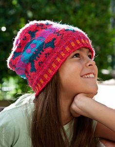 Cute! Monkey Bones Skull Hat Knitting Pattern