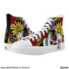 Skull Punk Face Flex Mesh Casual Shoes For Women