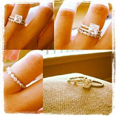 Promise , engagement and wedding ring ♥ never thought about this, but I will definitely do it