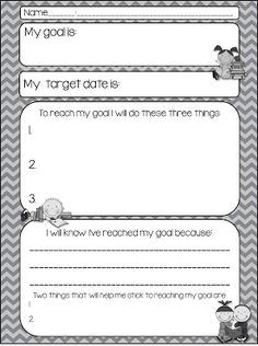 Student goal setting. Great for SLCs. | Lets Get My Classroom ...