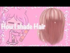 How to shade Hair #2 ||Gacha life - YouTube Kawaii Hairstyles, Girl Hairstyles, Pink Hair, Blonde Hair, How To Shade, Life Video, Hair Shades, How To Draw Hair, The Creator