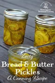 Put up the abundant cucumber harvest by canning up these easy and tasty zesty bread & butter pickles that are a perfect balance of sweet, sour, & spice. Spicy Pickles, Canning Pickles, Homemade Pickles, Sweet Pickles, Sweet And Sour Pickles Recipe, Bread N Butter Pickle Recipe, Bread & Butter Pickles, Cold Pack Pickle Recipe, Cucumber Canning