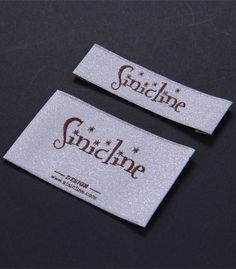 Sinicline low MOQ satin woven labels for clothing custom. Fabric Labels, Clothing Labels, Printing Labels, Card Holder, Satin, Prints, Clothes, Design, Fashion