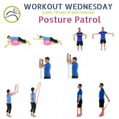 Better posture in one workout. Bring some attention to those upper back/shoulder muscles. Shoulder Muscles, Better Posture, Wednesday Workout, How To Better Yourself, Bring It On, Wellness, Exercise, Ejercicio, Excercise