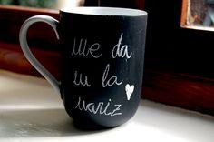 Presents, Mugs, Tableware, Blog, Diy, Ideas, Chalkboard, Gifts, Dinnerware