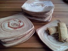 Ceramic plates for pie and pastry or ..
