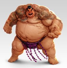 Sumo wrestler by lordeeas could be a RPG or D&D race/class XD I would love it ! Character Concept, Character Art, Concept Art, Character Design, Sumo Wrestler, Red Hulk, Creature Design, Street Fighter, Martial Arts