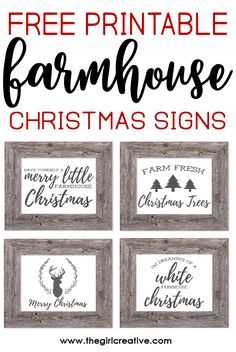 Free Printable Farmhouse Christmas Signs The Girl Creative Free Christmas Printables Christmas Signs Farmhouse Christmas